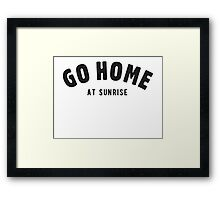 Go home at sunrise Framed Print