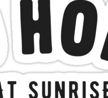 Go home at sunrise Sticker