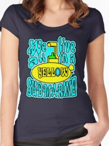 YELLOW SUBMARINE Women's Fitted Scoop T-Shirt