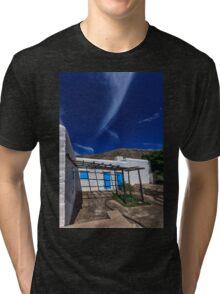 Typical Greek white stone house Tri-blend T-Shirt