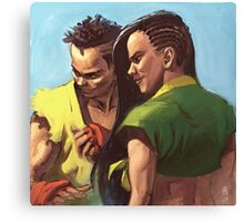 Street Fighter: Sean and Laura Canvas Print