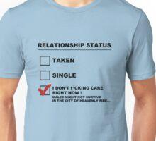 TMI - Malec : Relationship status Unisex T-Shirt