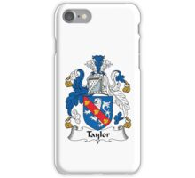 Taylor Family Crest Heraldic Shield iPhone Case/Skin
