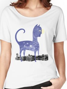 Night Cat owns the City Women's Relaxed Fit T-Shirt