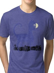 Night Cat owns the City Tri-blend T-Shirt