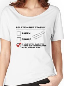 TMI - Malec : Magnus' Relationship Status Women's Relaxed Fit T-Shirt