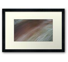 Brush past Framed Print