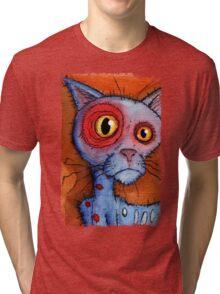 blue zombie cat Tri-blend T-Shirt
