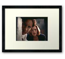 Mulder & Scully Framed Print