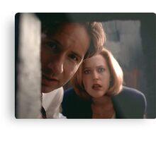 Mulder & Scully Metal Print