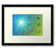 Butterflies in Flight Framed Print