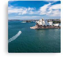 Sydney Harbor and Sydney Opera House Canvas Print