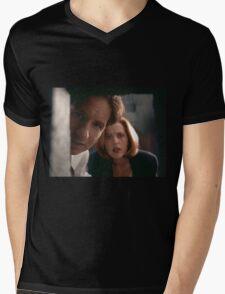 Mulder & Scully Mens V-Neck T-Shirt
