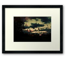 Sunset silhouette Framed Print