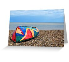 Coloured Boat Greeting Card
