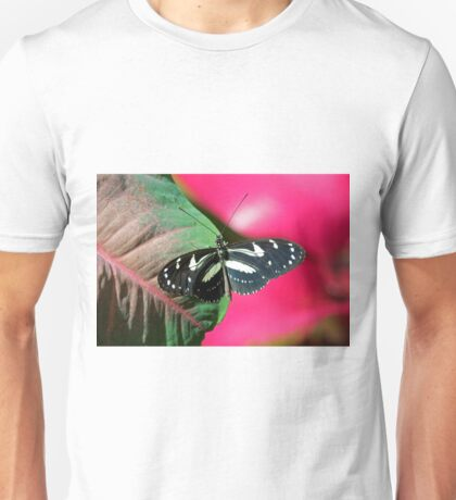 Butterfly and Colorful Leaf Unisex T-Shirt