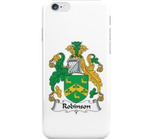 Robinson Family Crest Heraldic Shield iPhone Case/Skin