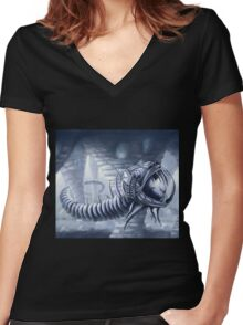 Undersea world Women's Fitted V-Neck T-Shirt