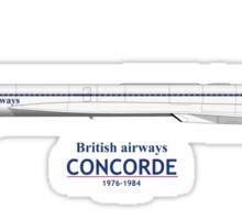 British Airways Concorde 1976 To 1984 Sticker