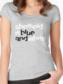Sheffield is Blue Women's Fitted Scoop T-Shirt