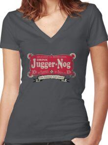 Fight Stronger, Live Longer (V2) Women's Fitted V-Neck T-Shirt