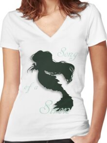 Song of a Siren Women's Fitted V-Neck T-Shirt