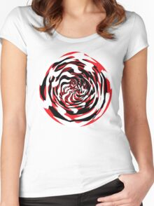 Thumbprints with an Eye Forward Women's Fitted Scoop T-Shirt
