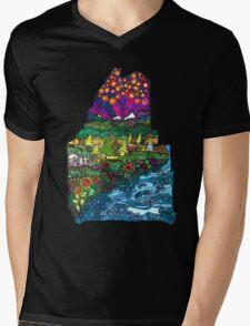 Big Beautiful Maine Mens V-Neck T-Shirt