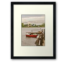Fishing Boats at Santa Lucia River in Montevideo, Uruguay Framed Print