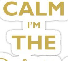 Keep Calm I am The Wedding Planner Sticker