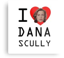 I Heart Dana Scully Metal Print