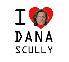 I Heart Dana Scully Photographic Print