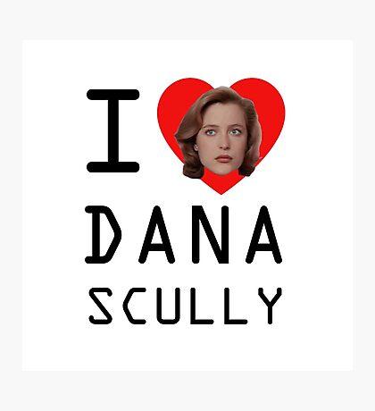 I Heart Dana Scully Photographic Print