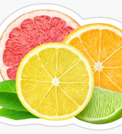 Fresh citrus fruits Sticker