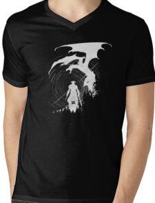 Dragon Fighter Mens V-Neck T-Shirt