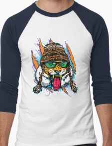 Bengal Tiger Roars for Winter Snowboarding T-Shirt