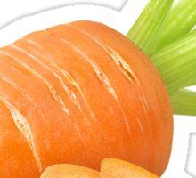 Cut carrot Sticker