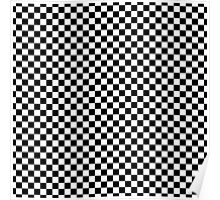 Classic Black and White Checkerboard Repeating Pattern  Poster
