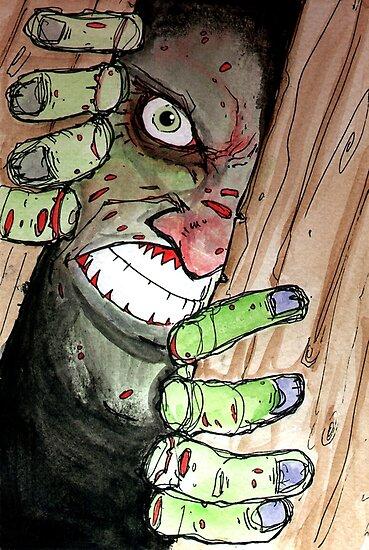 zombie breaking in by byronrempel