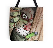 zombie breaking in Tote Bag