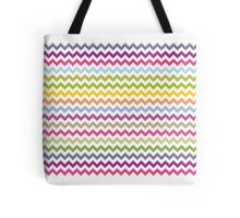 Multi-colored zig zag Tote Bag