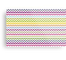 Multi-colored zig zag Metal Print