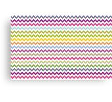 Multi-colored zig zag Canvas Print