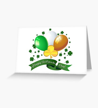 Saint Patricks Day Greeting theme Greeting Card
