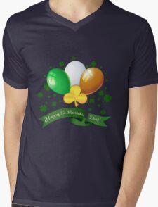 Saint Patricks Day Greeting theme Mens V-Neck T-Shirt