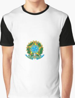 National Coat of Arms of Brazil Graphic T-Shirt
