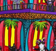 Mardi Gras Cats Sticker