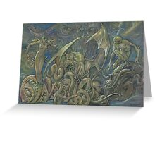 Minions of Cthulhu  Greeting Card