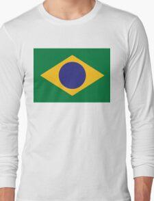National flag of Brazil Long Sleeve T-Shirt