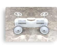 child's pedal car built for two Canvas Print